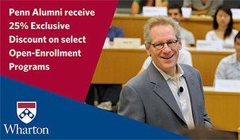 Wharton Executive Education discount for Penn Alumni