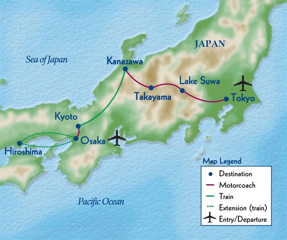 Penn Alumni Insiders Japan - Japan map legend