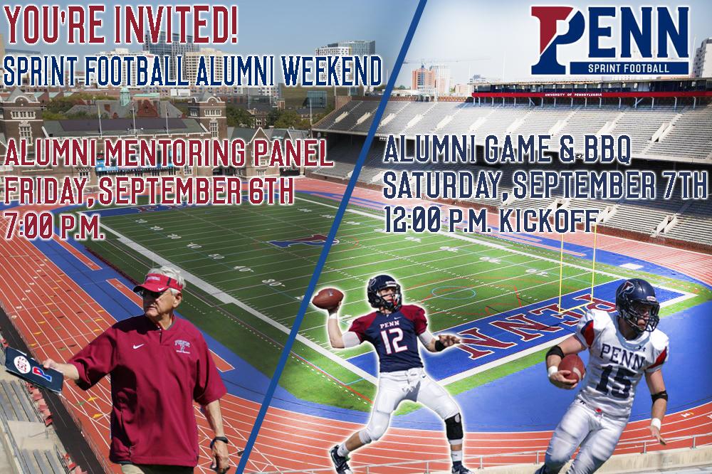Penn Alumni - Penn Sprint football Alumni Weekend & BBQ 9/6