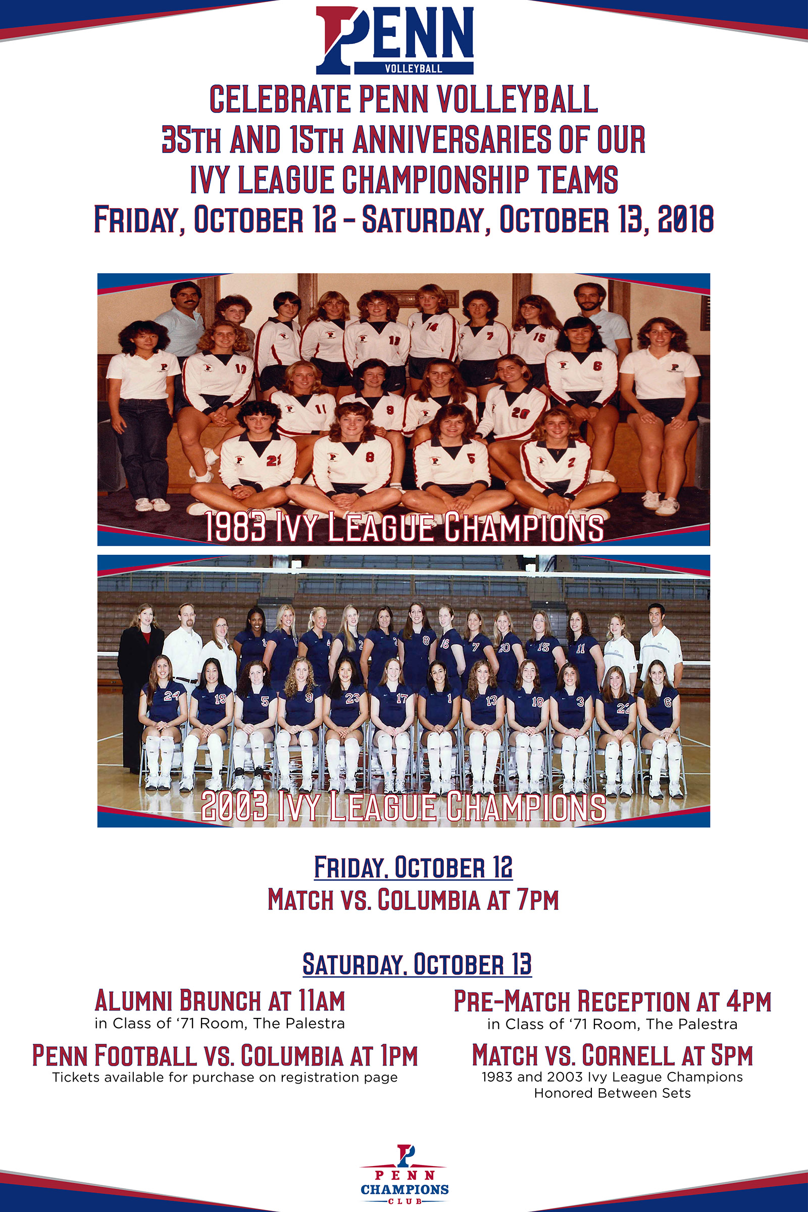 Penn Alumni - Penn Volleyball Celebration of the 35th & 15th